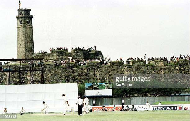 A general view of the ground with the fort in the background during the 1st Sri Lanka v England Test match at the Galle International Stadium Galle...