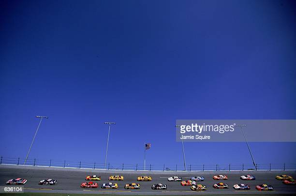 A general view of the racing circuit during the Daytona 500 Speedweeks part of the NASCAR Winston Cup Series at the Daytona International Speedway in...