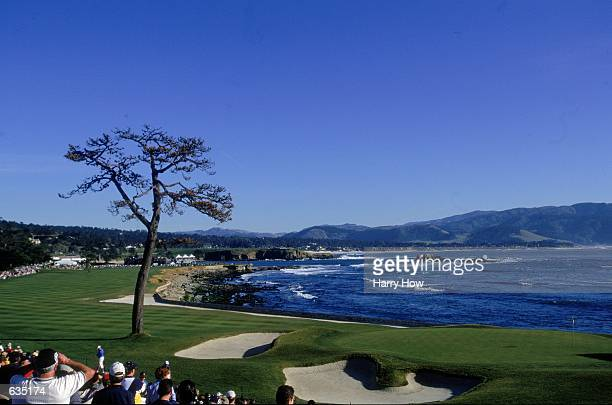 A view of the 18th green taken during the ATT Pebble Beach Pro Am at the Poppy Hills Golf Course in Pebble Beach CaliforniaMandatory Credit Harry How...