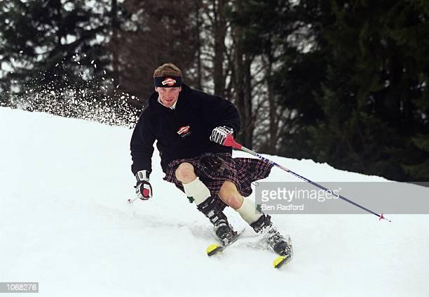 Alain Baxter of Great Britain in action during a Drambuie Skiing Feature at Saalfelden, Austria. \ Mandatory Credit: Ben Radford /Allsport