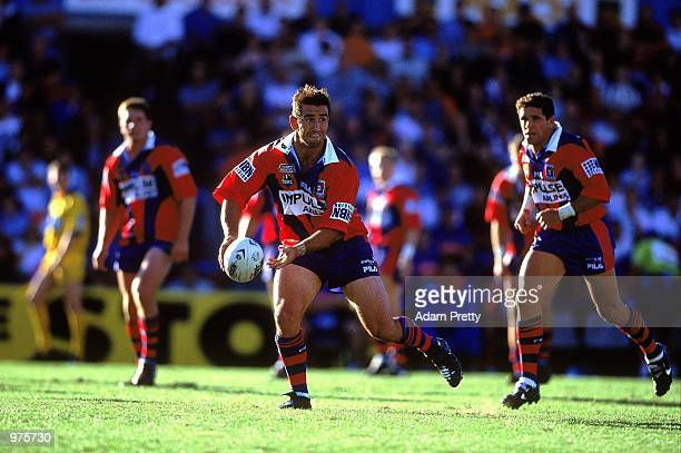 Andrew Johns of the Newcastle Knights in action durng the Round 1NRL match between the Newcatle Knights and Northern Eagles played at Marathon...