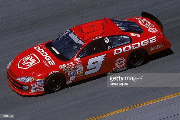 Bill Elliott who drives a Dodge Intrepid for Everham Motorsports races during the Daytona 500 Speedweeks part of the NASCAR Winston Cup Series at the...