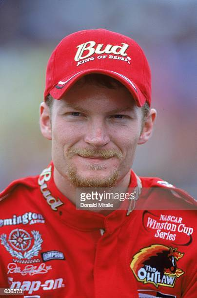 Dale Earnhardt Jr who drives a Chevy Monte Carlo for Dale Earnhardt Inc looks on during the Dura Lube 400 part of the Winston Cup Series at the North...