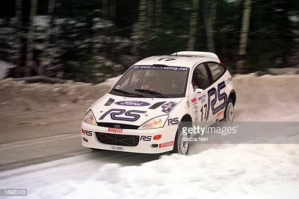 Francois Delecour driving a Ford Focus during the World Rally Championships in Sweden Germano Gritti / Grazia Neri Mandatory Credit Grazia...