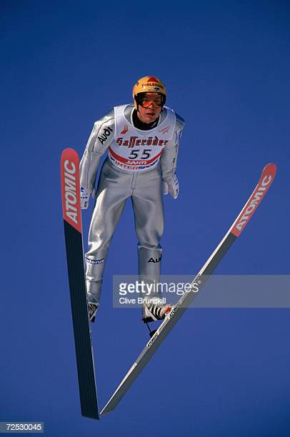 Frank Loeffler of Germany attempts the jump during the Men's Ski Jump Individual K90 Practice at the FIS Nordic World Ski Championships in Lahti...