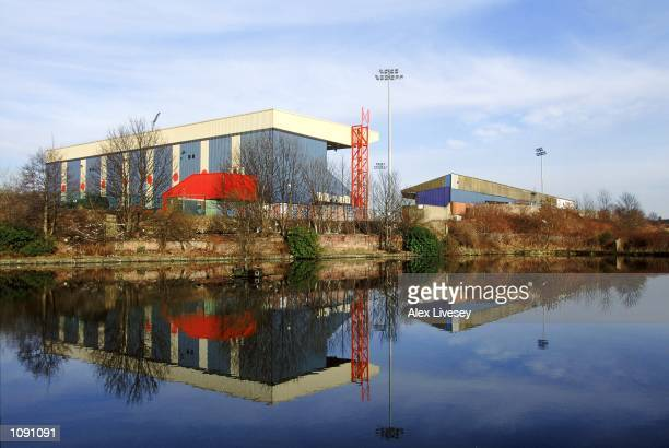General view of Stockport County Football club stadium Edgeley Park during a photoshoot held in Stockport, England. \ Mandatory Credit: Alex Livesey...