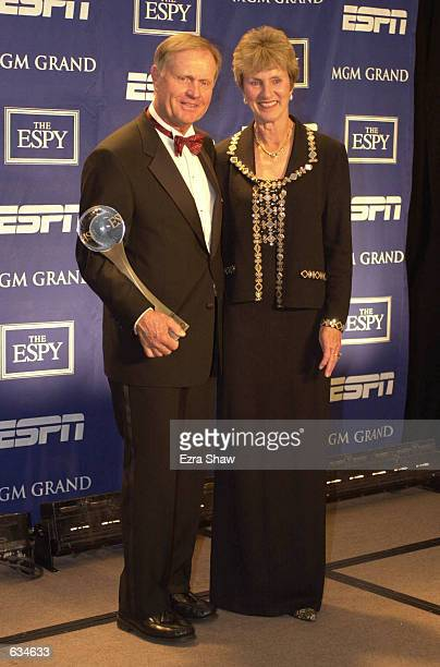 Jack Nicklaus received the ESPY Lifetime Achievement Award with his wife Barbara at the MGM Grand in Las Vegas Nevada DIGITAL IMAGE Mandatory Credit...