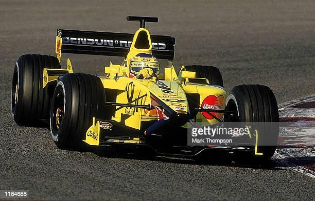 Jarno Trulli of Jordan Honda during Formula One Winter Testing in Barcelona Spain Mandatory Credit Mark Thompson /Allsport