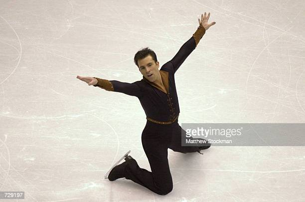 Michael Weiss competes in the free skate portion during the Four Continents Figure Skating Championships at the Delta Center in Salt Lake City Utah...