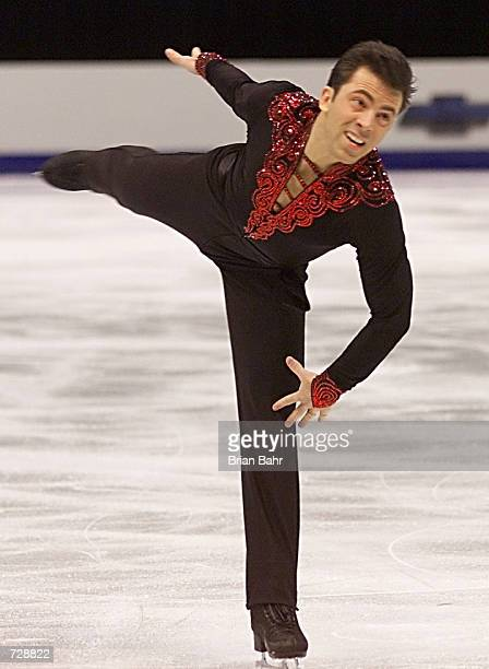 Michael Weiss of the USA performs during the Mens Short Program of the 2001 Four Continents Championships at the Delta Center in Salt Lake City Utah...