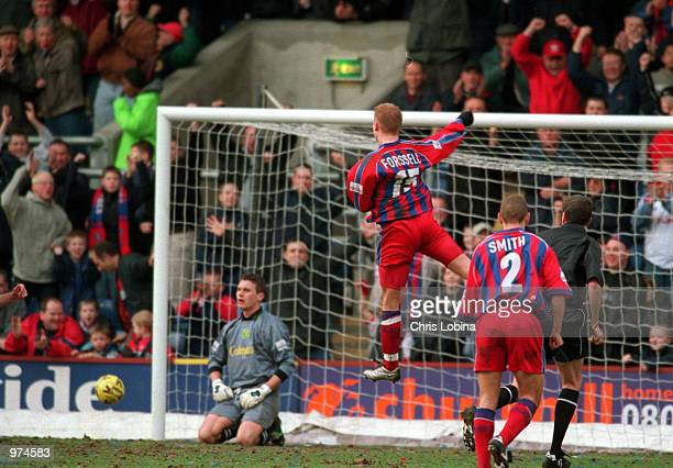 Mikael Forssell of Palace celebrates scoring a goal during the Nationwide League Division One match between Crystal Palace and Norwich City played at...