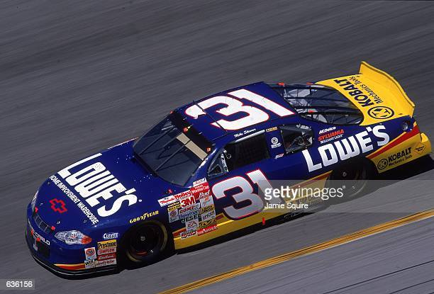 Mike Skinner who drives a Chevy Monte Carlo for Richard Childress Racing hugs a turn during the Daytona 500 Speedweeks part of the NASCAR Winston Cup...