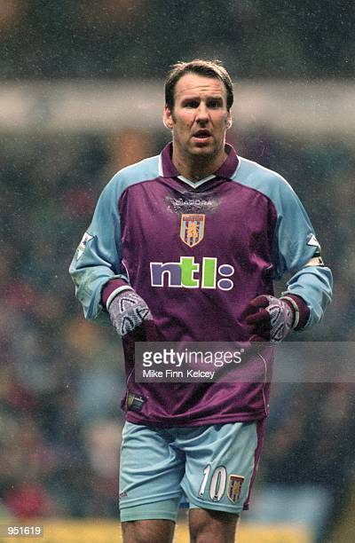Paul Merson of Aston Villa in action during the FA Carling Premiership match against Middlesbrough played at Villa Park in Birmingham England The...