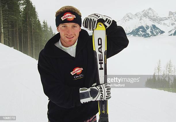 Portrait of Alain Baxter of Great Britain during a Drambuie Skiing Feature at Saalfelden, Austria. \ Mandatory Credit: Ben Radford /Allsport