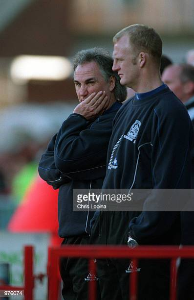 QPR manager Gerry Francis dejected as he sees his team concede five goals during the Nationwide Division One match between Wimbledon and Queens Park...
