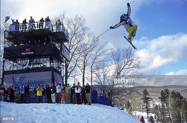 Rex Thomas of Canada jumps in the Big Air Finals Event during the ESPN Winter X Games in Mt Snow VermontMandatory Credit Jamie Squire /Allsport