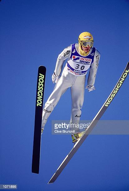 Ronny Ackermann of Germany in action during the FIS Nordic World Ski Championships held in Lahti Finland Mandatory Credit Clive Brunskill /Allsport
