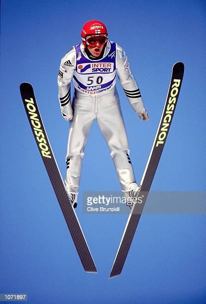 Samppa Lajunen of Finland in action during the FIS Nordic World Ski Championships held in Lahti Finland Mandatory Credit Clive Brunskill /Allsport
