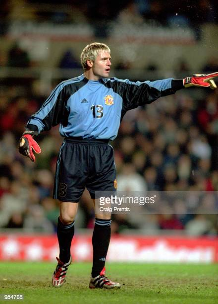 Santiago Canizares of Spain in action during the International Friendly against England played at Villa Park in Birmingham England England won the...