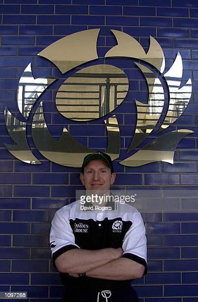 Scotland Captain Andy Nicol takes time out from a Press Conference before Saturday's Six Nations Rugby Union match against Wales at Murrayfield in...