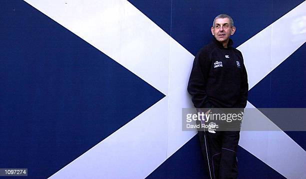 Scotland Coach Ian McGeechan takes time out from a Press Conference before Saturday's Six Nations Rugby Union match against Wales at Murrayfield in...