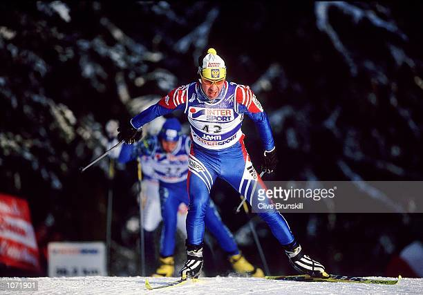 Sergei Kriamin of Russia in action during the FIS Nordic World Ski Championships held in Lahti, Finland. \ Mandatory Credit: Clive Brunskill /Allsport