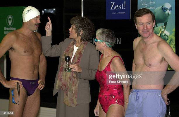 Sports Minister Kate Hoey launched Raynaud's Awareness Month by starting the ''Raynaud's Celebrity Swim'' sponsored by Seredrin The two team captains...