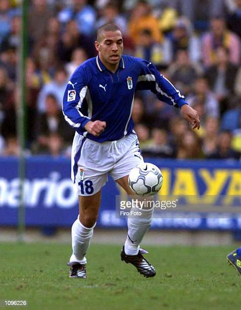 Stan Collymore makes his debut for Oviedo during the Primera Liga match between Las Palmas and Real Oviedo at the Estadio Insular, Las Palmas....