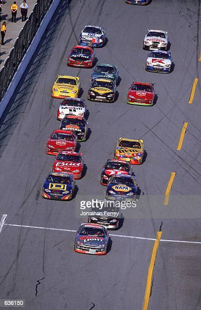 Sterling Marlin who drives a Dodge Intrepid for Chip Ganassi Racing leads the pack during the Daytona 500 Speedweeks part of the NASCAR Winston Cup...