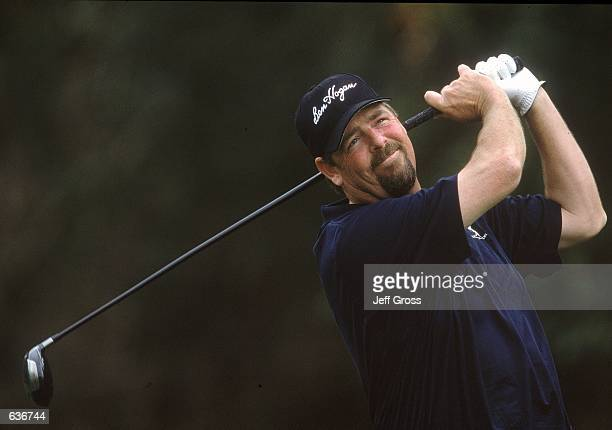 Steve Lowery tees off during the Nissan Open at the Riviera Country Club in Pacific Palisades CaliforniaMandatory Credit Jeff Gross /Allsport