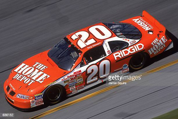 Tony Stewart who drives a Pontiac Grand Prix for Gibbs Racing speeds down the track during the Daytona 500 Speedweeks part of the NASCAR Winston Cup...