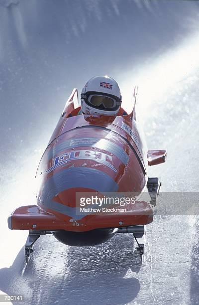 Victoria Thrower with partner Sarah Hunter of Great Britian make their run in the Bobsleigh Event during the Park City World Cup at Utah Olympic Park...