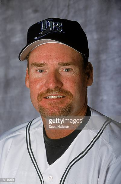 Wade Boggs of the Tampa Bay Devil Rays poses for a studio portrait during Spring Training at Florida Power Park in St Petersburg FloridaMandatory...