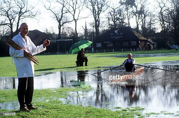 Weybridge Rowing Club oarsmen Nigel Gower takes time out from his training to test the new ''lake'' in town Next month he attempts to break the...