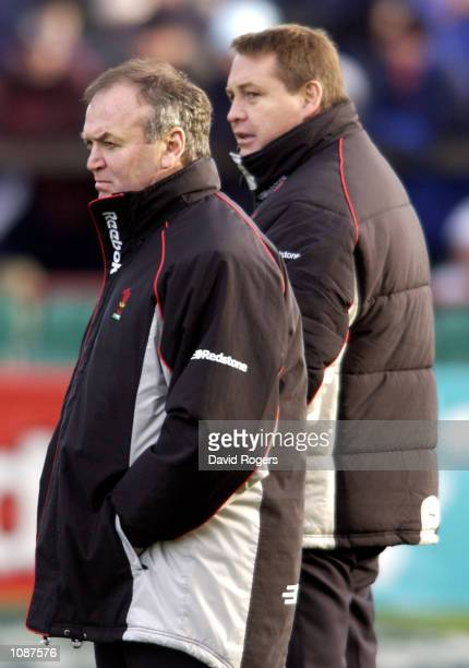 A dejected Welsh coach Graham Henry after Ireland score more then fifty points against them during the Six Nations Championship match between Ireland...