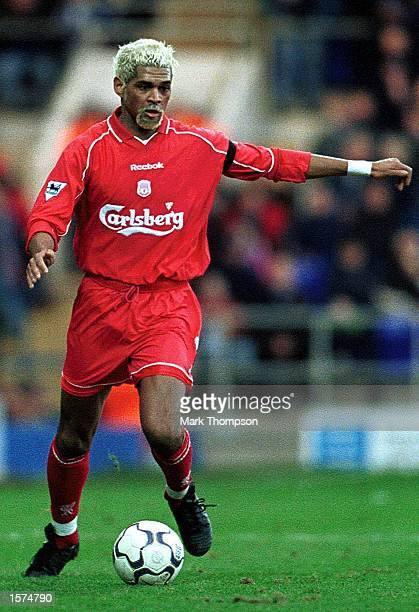 Abel Xavier of Liverpool in action during the FA Barclaycard Premiership match between Ipswich Town and Liverpool at Portman Road Ipswich Mandatory...