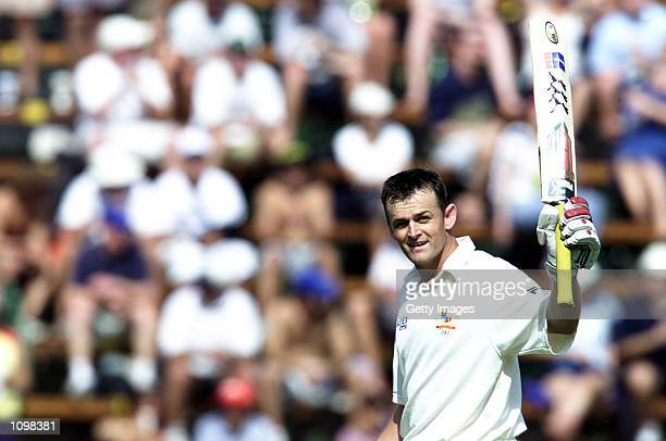 Adam Gilchrist during the second day of the first test between South Africa and Australia, played at The Wanderers, Johannesburg. DIGITAL IMAGE....