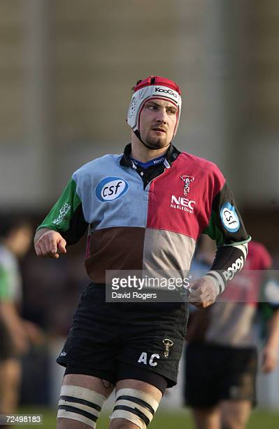 Alex Codling of Harlequins during the Zurich Premiership match between Bath and Harlequins at the Recreation Ground in Bath England Bath won the...