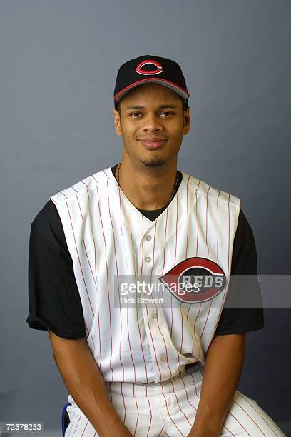 Alex Hernandez of the Cincinnati Reds poses during media day at Ed Smith Stadium Complex in Sarasota Florida DIGITAL IMAGE Mandatory Credit Rick...