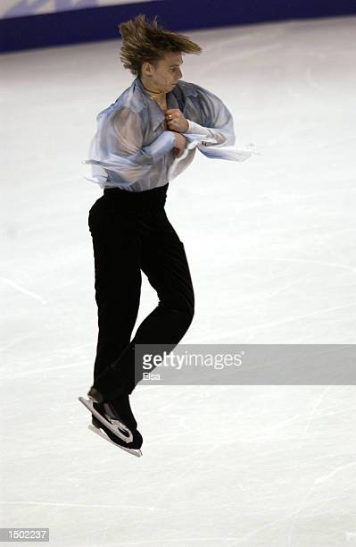 Alexander Abt of Russia competes in the men's free program during the Salt Lake City Winter Olympic Games at the Salt Lake Ice Center in Salt Lake...