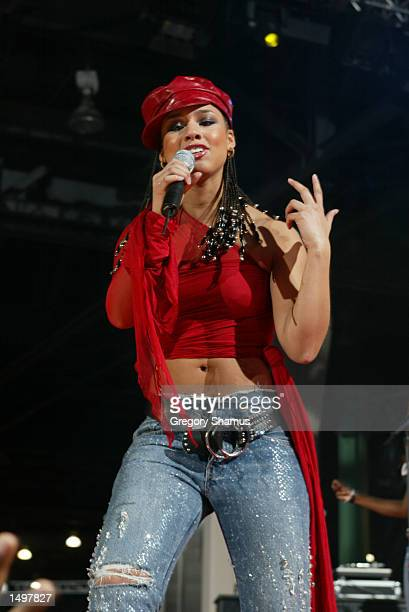 Alicia Keys performs during the NBA All Star Read to Achieve Celebration in Philadelphia Pennsylvania DIGITAL IMAGE NOTE TO USER User expressly...