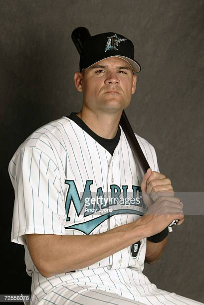 Andy Fox of the Florida Marlins is pictured during the Marlins media day at at their spring training facility in Viera Florida DIGITAL
