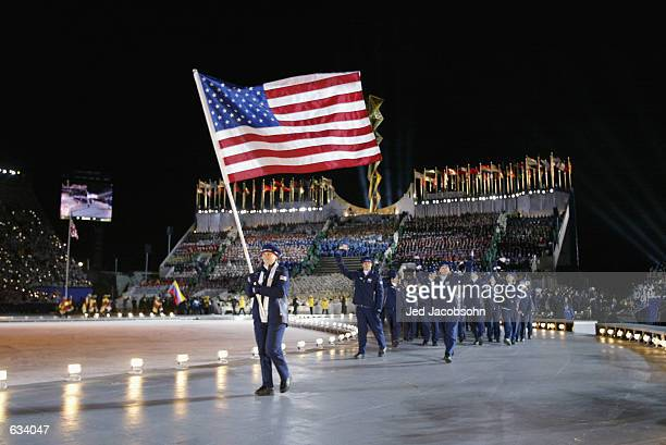 at the Opening Ceremony of the Salt Lake City Winter Olympic Games at the RiceEccles Olympic Stadium in Salt Lake City Utah DIGITAL IMAGE Mandatory...