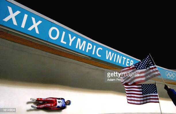 Becky Wilczak of the USA was 5th in the women's luge event during the Salt Lake City Winter Olympic Games at the Utah Olympic Park in Park City,...