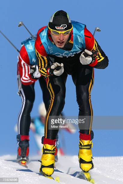 Bjoern Kircheisen of Germany competes in the 15km nordic combined event during the Salt Lake City Winter Olympic Games at Soldier's Hollow in Heber...
