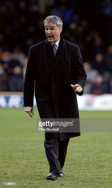 Chelsea manager Claudio Ranieri during the FA Barclaycard Premiership match between Leicester City and Chelsea played at Filbert Street in Leicester...