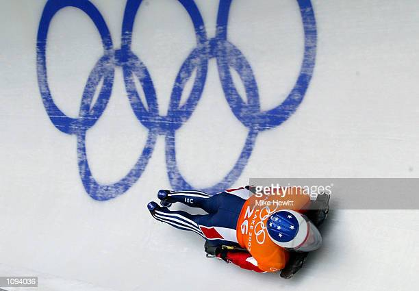 Chris Soule of the USA practices in the men's skeleton during the Salt Lake City Winter Olympic Games at the Utah Olympic Park in Park City, Utah....