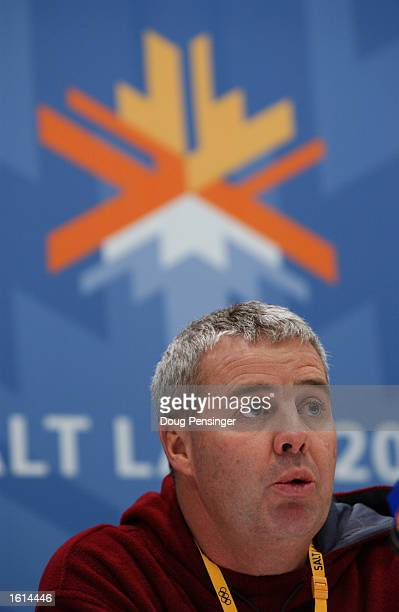 Director of Media Relations Mike Tancred fields questions from the meda during the Australian Press Conference at the Main Media Center during the...