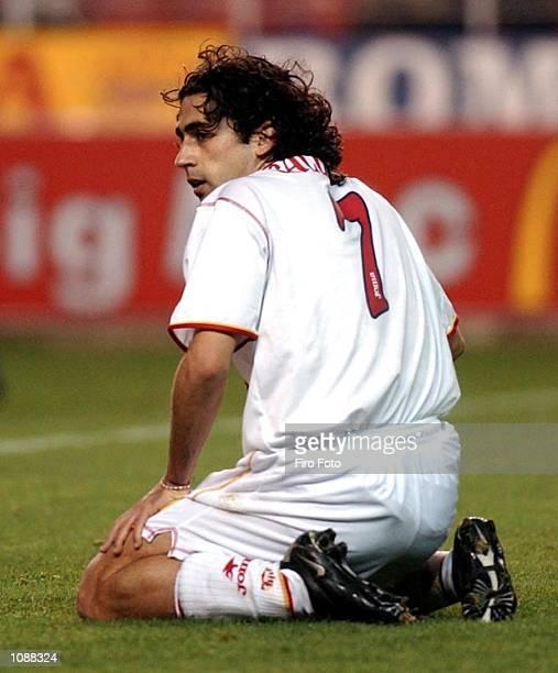 Francisco Gallardo of Sevilla in action during the Primera Liga match between Sevilla and Osasuna played at the Ramon Sanchez Pizjuan Stadium Sevilla...