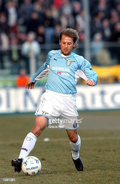 Gaizka Mendieta of Lazio in action during the Serie A match between Parma and Lazio played at the Ennio Tardini Stadium Parma DIGITAL IMAGE Mandatory...